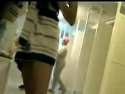 Spying cute Amateurs in a public shower