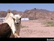 Hot blowjob in the desert with stunning teen amateur